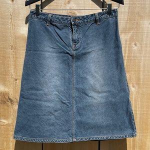 Vintage 90s Y2K Unionbay Blue Denim A-Line Skirt